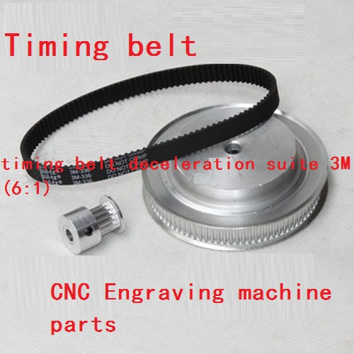 timing belt deceleration suite 3M (6:1) CNC Engraving machine parts Synchronous pulley lupulley htd timing belt pulley gear 3m type deceleration suite 3m 1 2 20t 40t cnc engraving machine parts synchronous