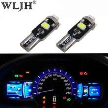 WLJH T5 7 Renk Led 12 V Işık Kontrol Paneli LED Gösterge ve Gösterge Ampul Için BMW E36 E3 E21 E23 e24 E28 E30 E34 E38 E31 E12 Z3