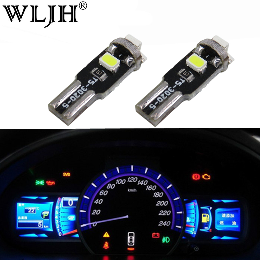 WLJH T5 Led 7 Colors 12V Light Dashboard LED Instrument and Gauge Bulb For <font><b>BMW</b></font> E36 E3 E21 E23 E24 E28 <font><b>E30</b></font> E34 E38 E31 E12 Z3 image