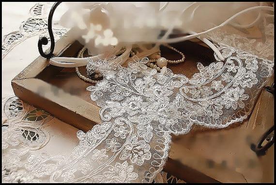 Aliexpresscom Buy Ivory Alencon Lace Trim Bridal Veil Lace