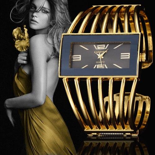2017 New Arrival Fashion Cuff Bracelet Wristwatch Luxury Brand Stainless Steel Women Dress 18K Gold Watches Casual Clock Relojes цена