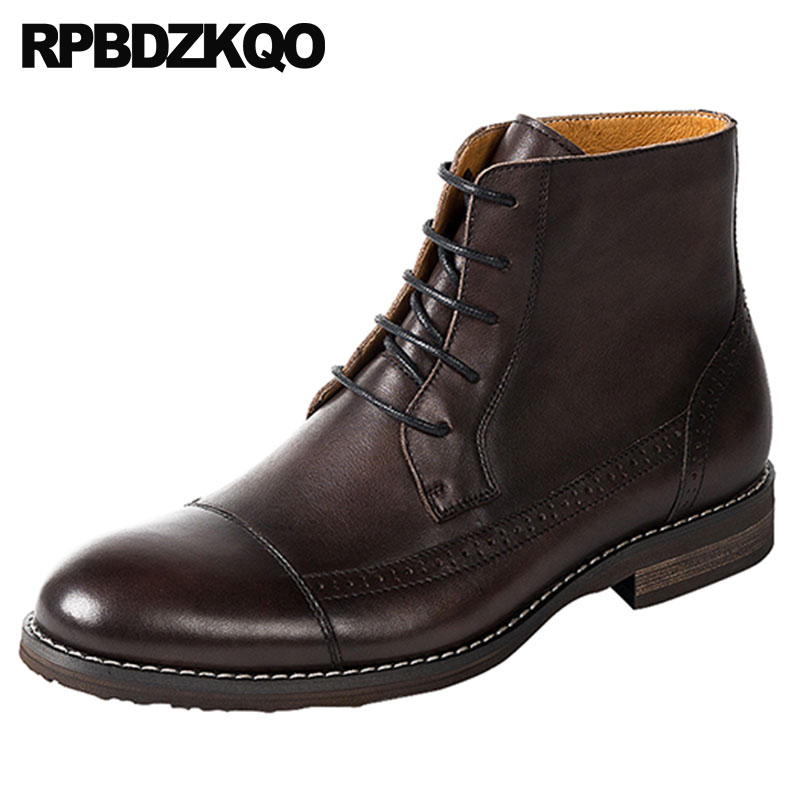 designer booties full grain genuine leather boots lace up dress brogue party wedding Mens shoes formal 2018 european plus sizedesigner booties full grain genuine leather boots lace up dress brogue party wedding Mens shoes formal 2018 european plus size