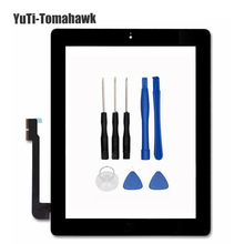 Tablet Touch Screen For ipad3 A1416 A1430 A1403 for iPad 4 A1458 A1459 A1460 Digitizer Glass Panel + Tools