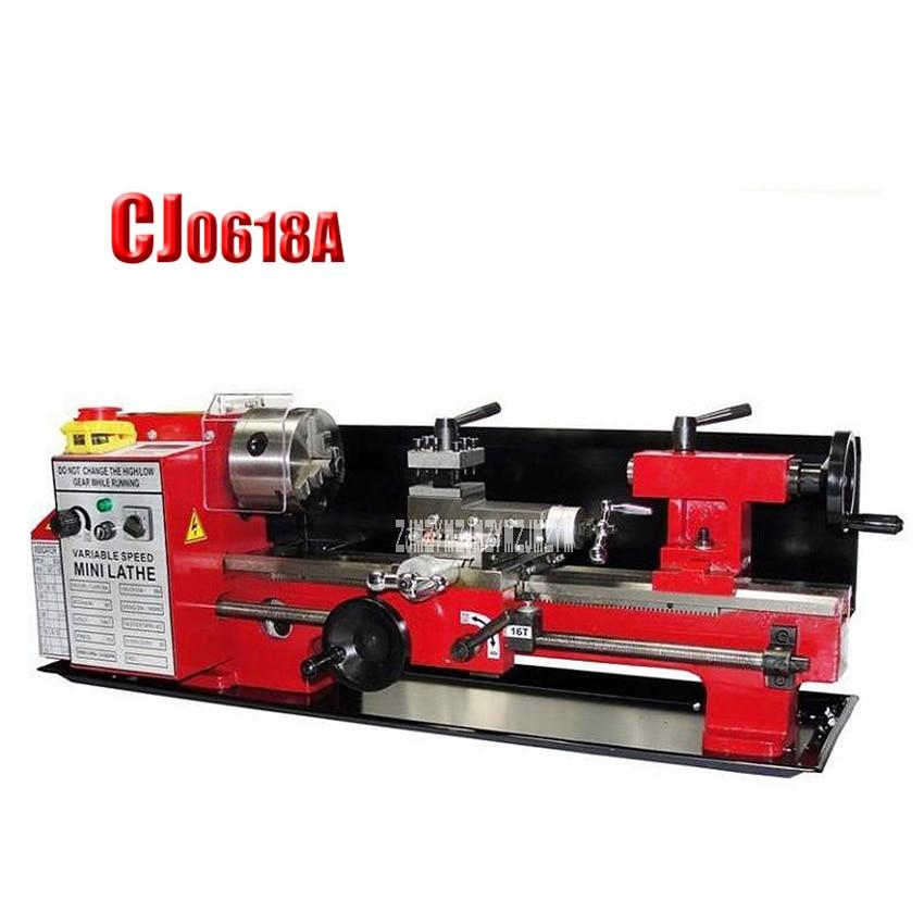 CJ0618A Household Metal Lathe Horizontal Metal Milling Lathe Mini Lathe High quality Bench Lathe Machine 220V 550W 100 2500rpm