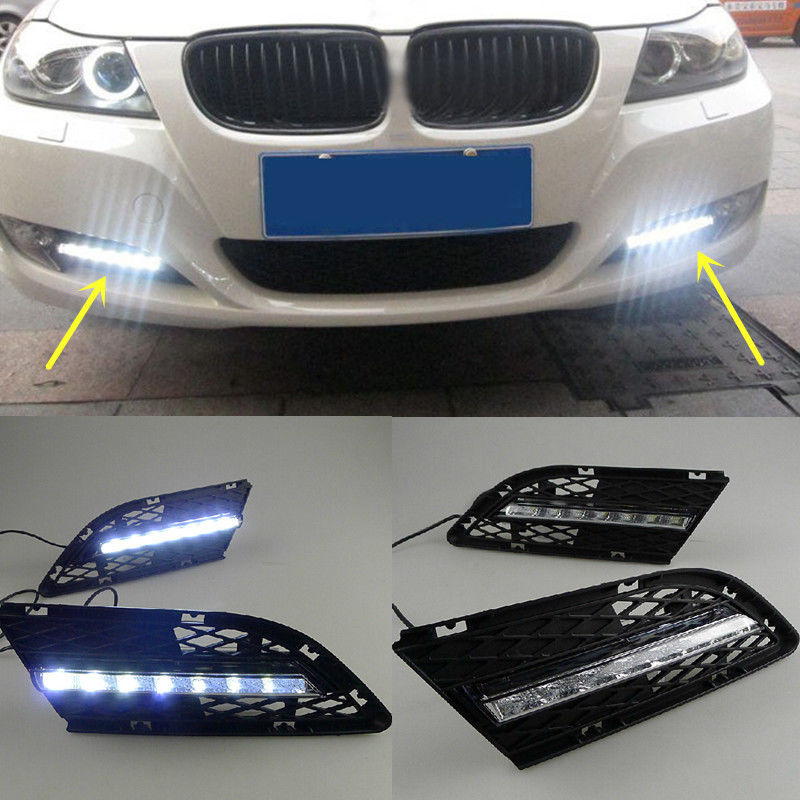 Led Daytime Running Lights Drl Led Fog Lamp For Bmw 3-2924