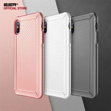 ESR Shockproof Heavy Duty Bumper Armor Case For iPhone X 10 Coque Luxury TPU & PC Shell Case Cover For iPhoneX Capinhas Funda(China)