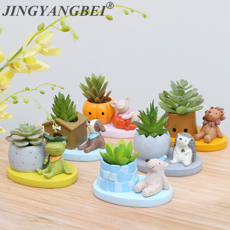 Creative Decorative Desktop Pot New Arrival 1pcs Lovely Animal Succulent Pot Micro Landscape Home Garden Decoration