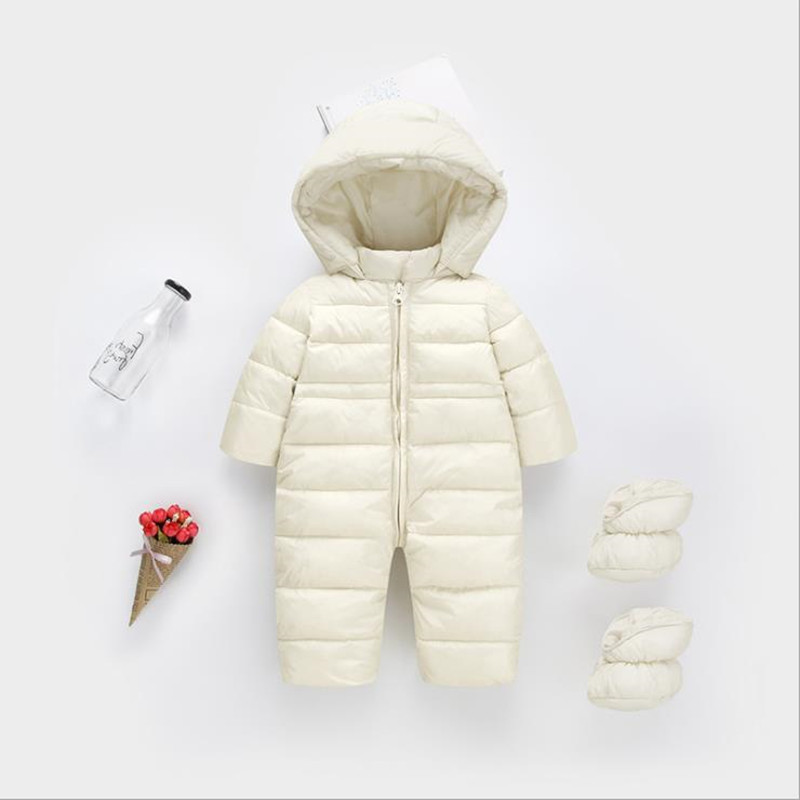 Thick Warm Infant Romper with Footmuff Winter clothes Newborn Baby Boy Girl Romper Jumpsuit Snowsuit Hooded Kids Outerwear new 2018 baby winter clothes cotton thick warm hooded baby jumpsuit newborn baby boy girl romper children snowsuit down clothing