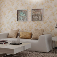 Flower Pastoral Non Woven Wallpaper 3d Stereoscopic Bedroom Cozy Dining Room TV Background Wallpaper