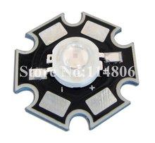 5pcs 3W UV Ultraviolet 388nm~390nm 45mil Chip LED Light Parts With 20mm Star Base