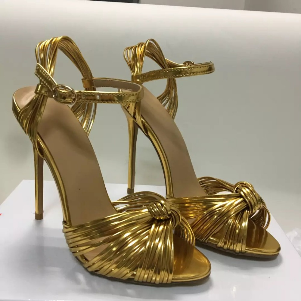 2017 summer gold pumps fashion butterfly-knot high heels sandals women narrow band shallow sandalias mujer Female summer shoes 2017 summer new open toe high heels zipper fretwork sandalias mujer botas narrow band shallow mouth gladiator women sandals