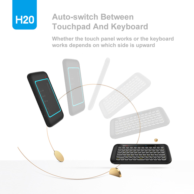 H20 Mini Wireless Keyboard Back light Touch pad Air mouse IR Leaning Remote control For Andorid BOX Smart TV Windows PK H18 Plus 2
