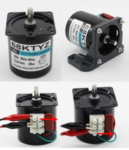 Image 2 - AC220V gear motor 2.5/5/10/15/20/30/50/60/80/100 rpm Strong Permanent Magnet Synchronous Gear Motor Low speed AC motor