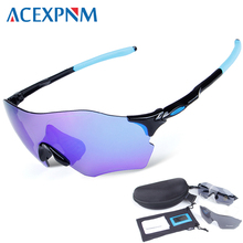 ACEXPNM UV400 2018 Polarized Cycling Glasses Bike Bicycle Sunglasses Cycling Goggles Men Sport Cycling Eyewear 3 Lenses farrova professional 5 lenses polarized cycling sunglasses outdoor bike goggles unisex sport bicycle eyewear accessories