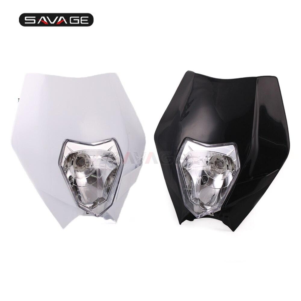Masque de phare pour SUZUKI DRZ 400E 400 S SM DRZ400E DR200S DR65SE 2006-2018 accessoires de moto ensemble de phares 12 V lumière