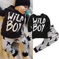 Kids Newborn Baby Boys Clothes Long Sleeve T-Shirts Tops+Pants 2pcs Outfits Set