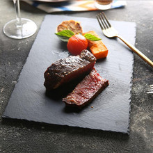 Creative Black Natural Rock Kitchen Plate Tableware Food Dishes Cook Tool 1PC