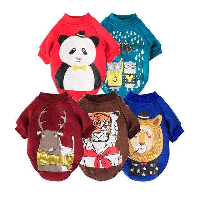 Fumetto Stampato Costume Pet Autunno e Inverno Vestiti Del Cane di Marca Piccolo