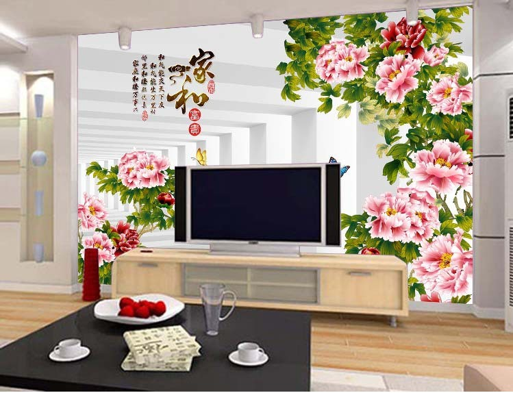 New Bedroom TV Sofa Background Wall Painted Stickers Personality Design Non Woven Wallpaper 3d Large Mural Fish Cloth In Wallpapers From Home