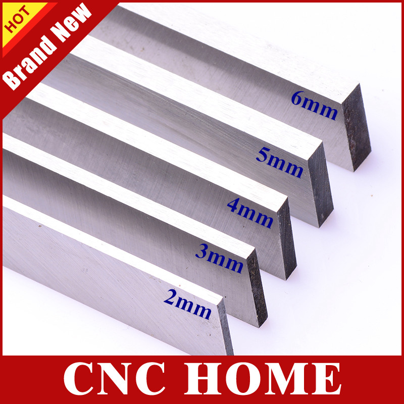 Free Shipping 5pcs 2mm 3mm 4mm 5mm 6mm thickness HSS Steel Bar Lathe Tool CNC Milling