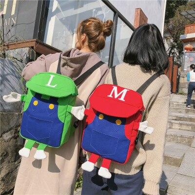 20a72ff7b819 OLN hot Sonic the Hedgehog Super Mario Bros School Bag for Kids Boy Backpack  Children School