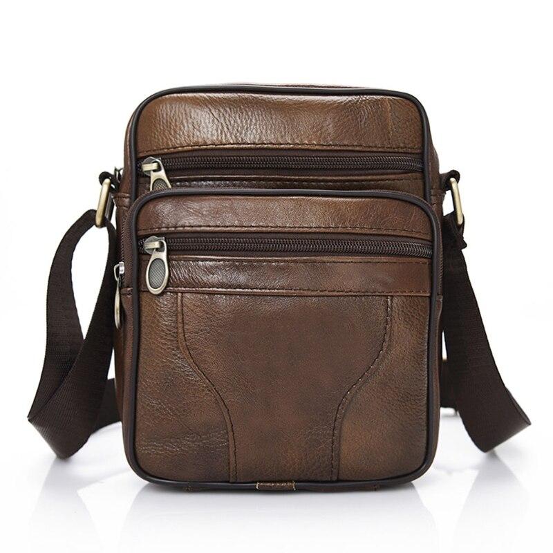 THINKTHENDO Casual Men Leather Vintage Shoulder Bag Messenger Crossbody Bags Handbag