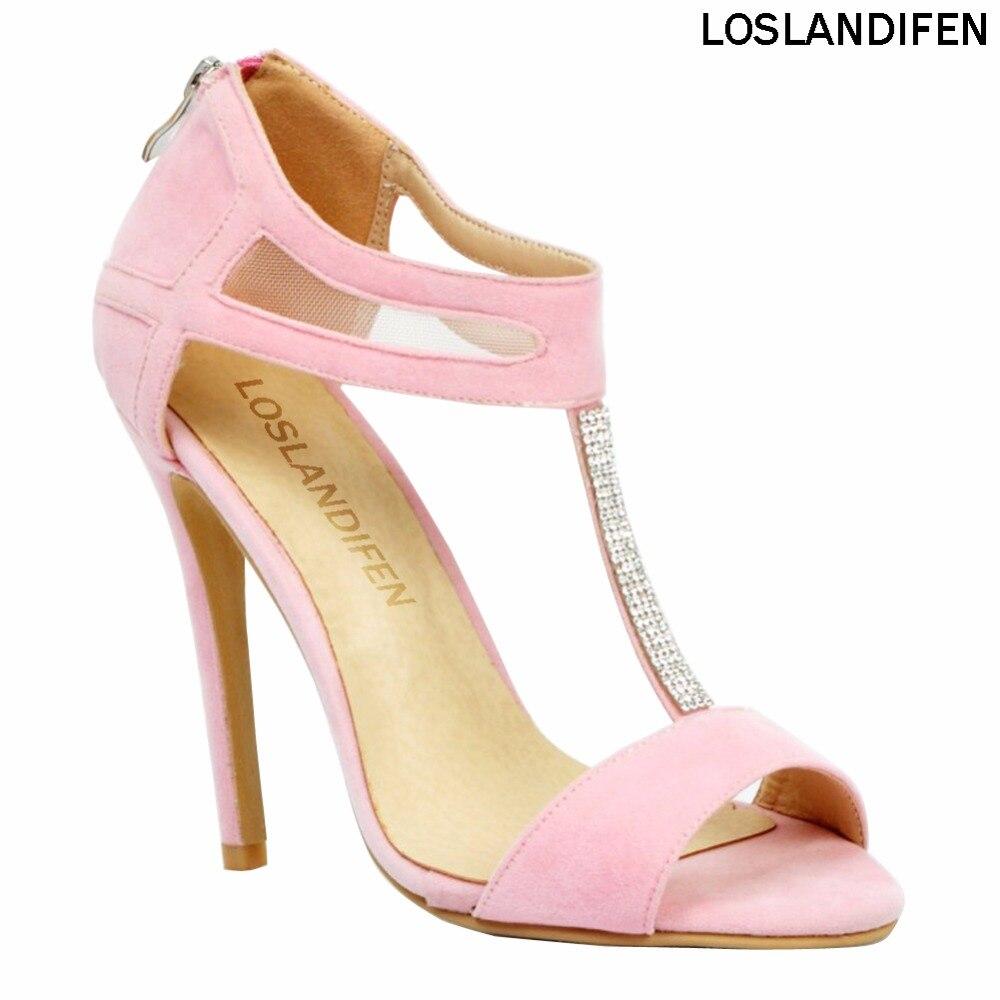 Womens Platforms T-strap Stilettos Open Toe High Heels Pump Party Club Sandals