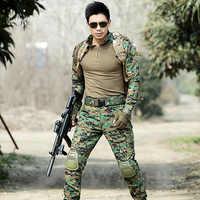 Ropa de caza para hombres, trajes Multicam de camuflaje para Selva, uniformes de combate, trajes de Fans del ejército, trajes de rana, conjuntos tácticos militares CS