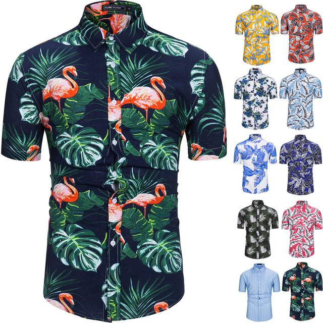 Men's Summer Printed Cotton Shirt