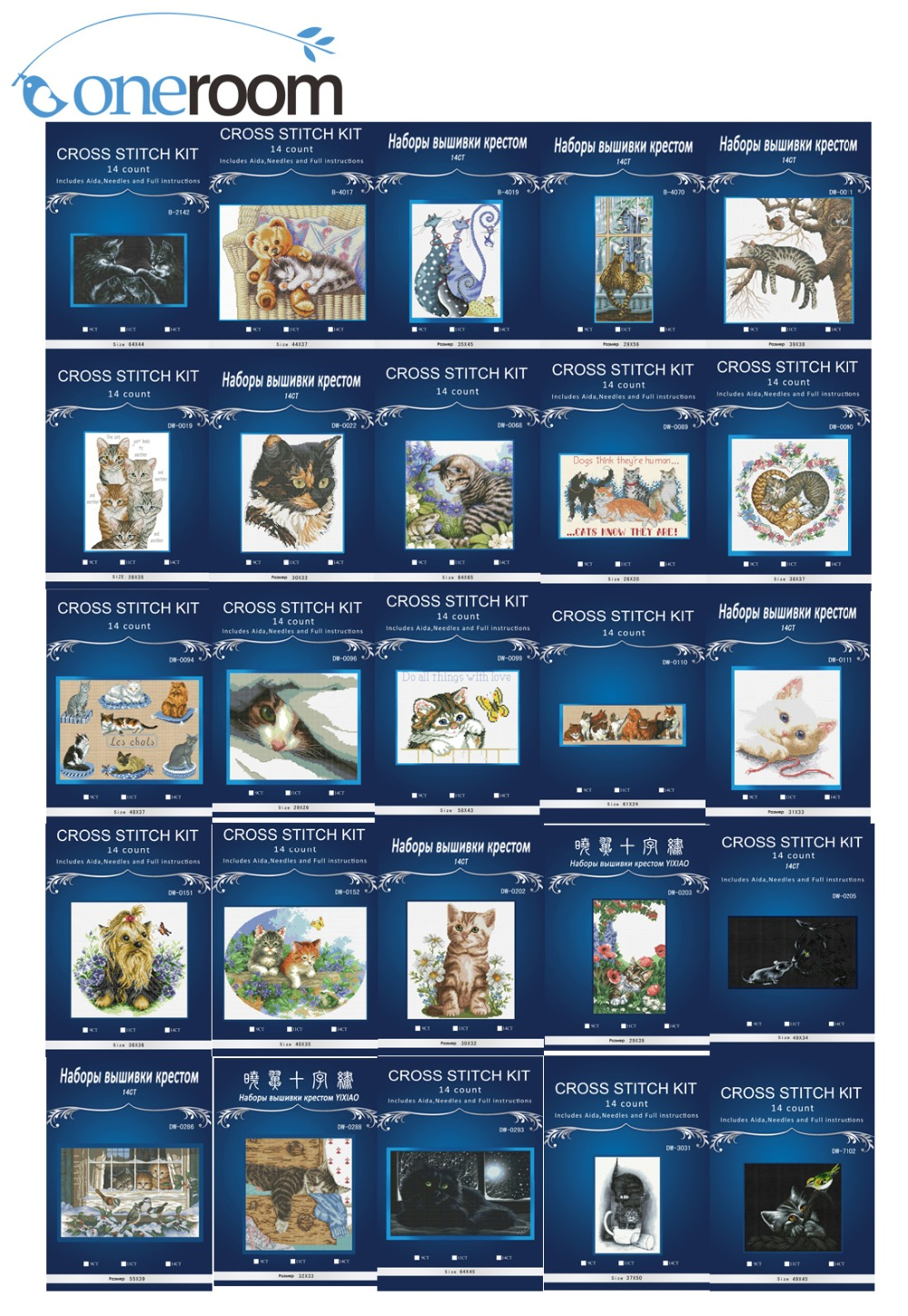 Top Quality Hot Sell Lovely Counted Triptych Cross Stitch Kit Max The Cat, Max Le Chat Dim  Cat Styles