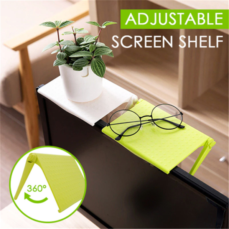 Adjustable Screen Shelf Storage Rack Clip Computer Table Desk Stand Accessories Table Desk Stand With Mouse Pad Desk Accessories