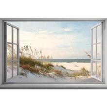 5D DIY Cross-Stitch Diamond Painting-Gift Window-Scenery Beach-Embroidery Home-Decor
