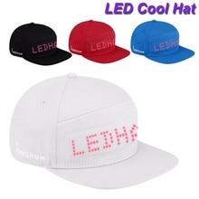 Cool Bluetooth Animated Led Message Sign Cap Snapback Baseball Running Hat Hiphop Hats Fashion Men Adjustable Flat Caps #YL5