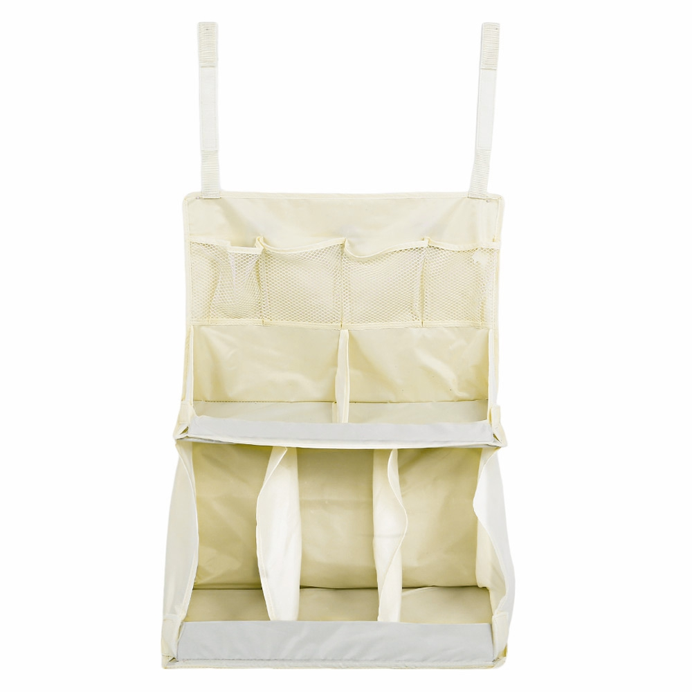 MiMoSa Portable Waterproof Diapers Organizer Baby Kids Bed Hanging Bag Toy Storage Baby Kids Bedding Sets Bedding Accessories