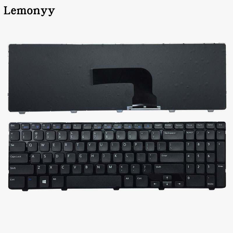 NEW US keyboard for DELL Inspiron 15 3521 15R 5521 black English laptop keyboard with frame laptop keyboard for msi ge60 black fs farsi with black frame