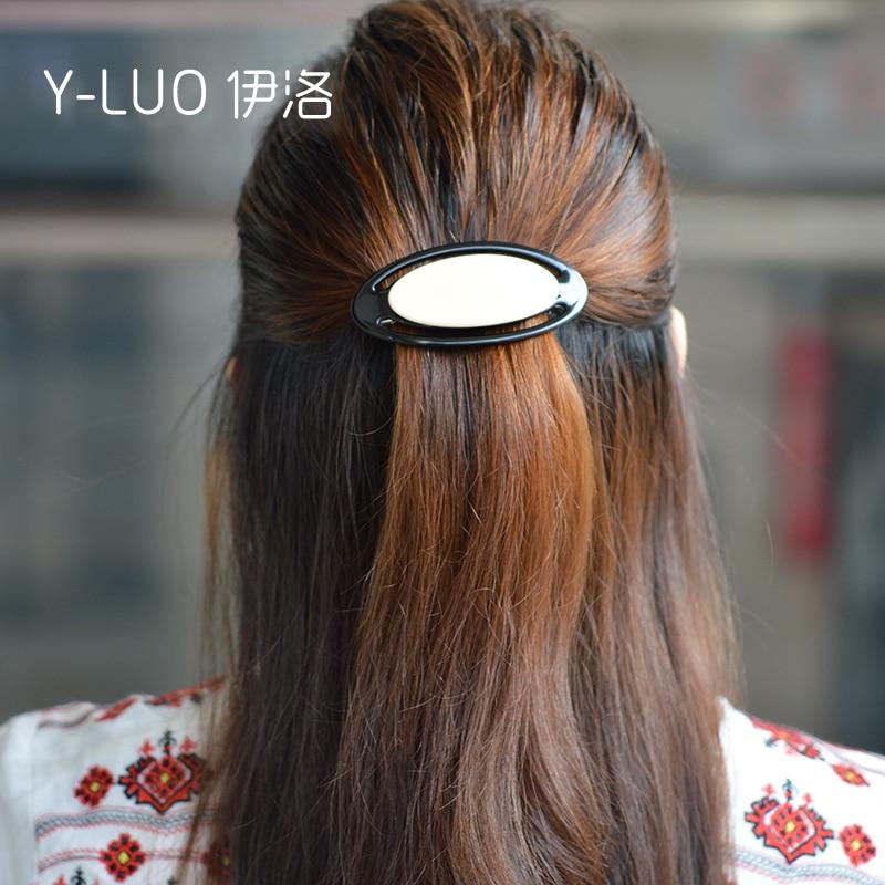 Girls headwear beige black hair barrette cute hair clip office simple korean hair accessories for women in Women 39 s Hair Accessories from Apparel Accessories
