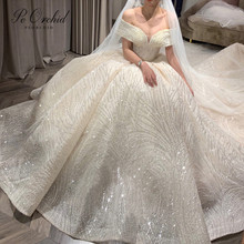 PEORCHID Luxury Wedding Dress Ball Gowns Dress 2019
