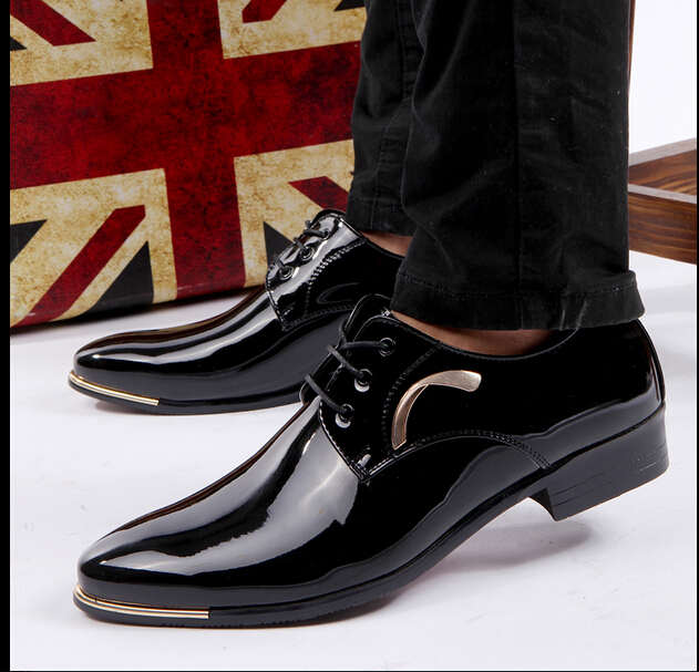 free shipping 2016 Men new Korean British leather shoes men pointed  business casual shoes men simple style rubber sole shoes 12abc4046ef4