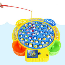 1 Set Electric Rotating Magnetic Magnet Fishing With fish And Fishing Rods Outdoor Fun & Sports Fish Toy Gift for Baby/Kids