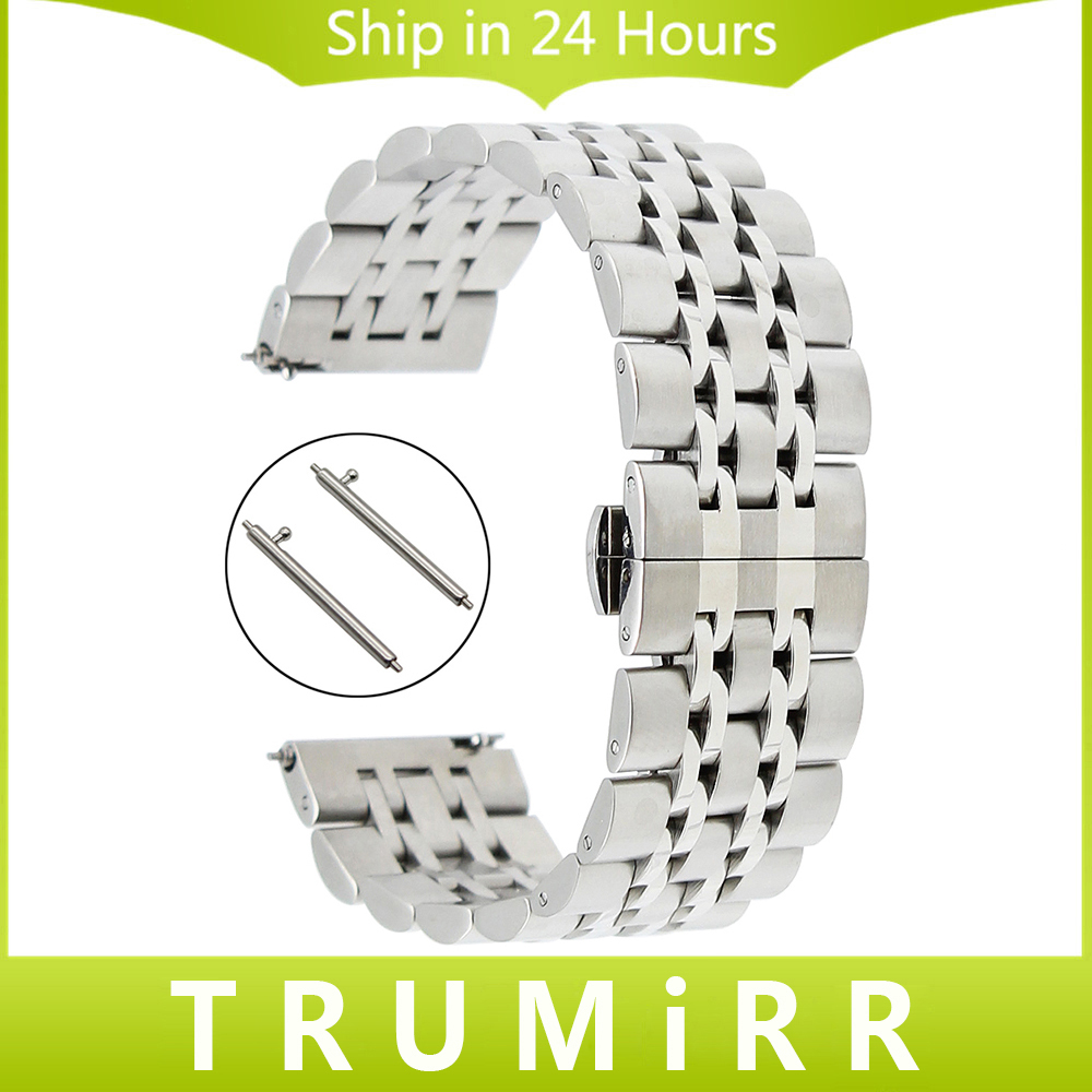 Quick Release Stainless Steel Watchband for Longines Tissot Mido Watch Band Butterfly Buckle Strap Wrist Bracelet 18mm 20mm 22mm survival bracelet hand ring strap weave paracord buckle emergency quick release for outdoors