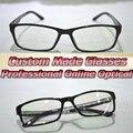 Optical Custom made optical lenses full-rim TR90 Matte black frame Reading glasses+1 +1.5 +2.0 2.5 +3 +3.5 +4 +4.5 +5 +6