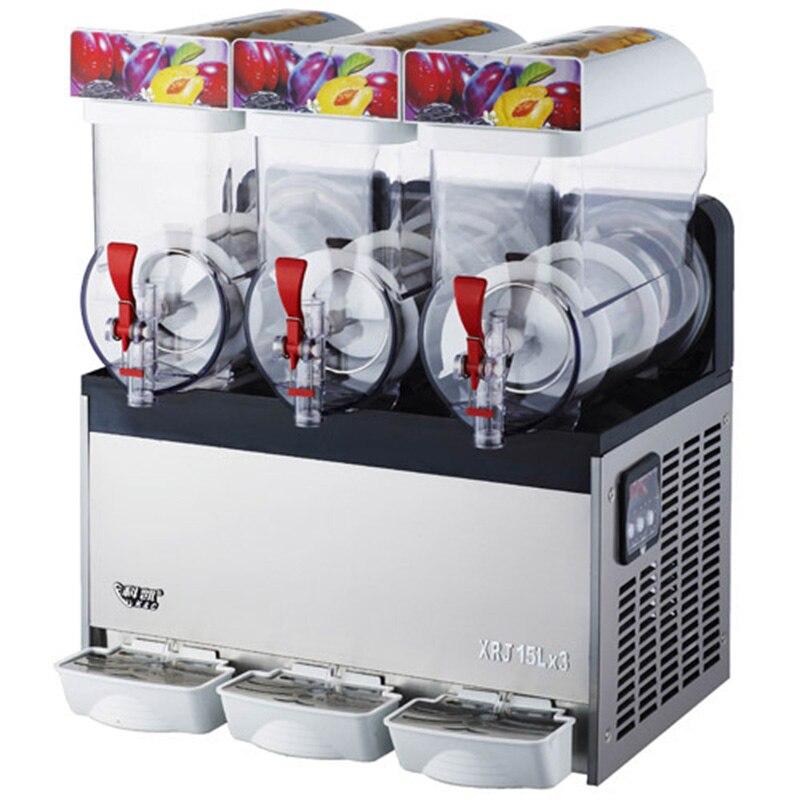 Machine de fusion de neige de 110 V/220 V 1000 W XRJ15X3 trois réservoirs de machine commerciale de glace de boisson de machine de neige fondue et fabricant de jus congelé