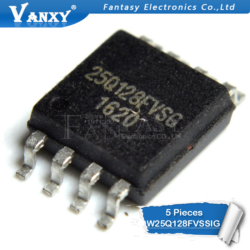 5PCS W25Q64FVSSIG IC FLASH 64MBIT 104MHZ 8SOIC NEW GOOD QUALITY
