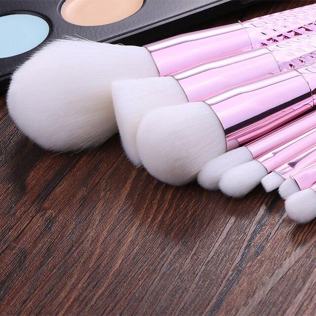 Professional 7pcs Unicorn Thread Makeup Brush set Rainbow Make Up Brushes Blending Powder foundation eyebrow contour Brush T 1