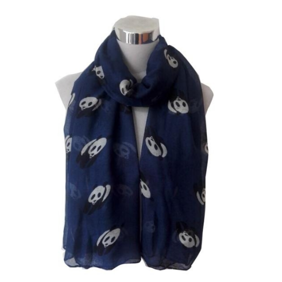 Fashion Vrouwen Leuke Panda Animal Infinity Sjaal Voor Vrouwen Dames Geschenken Grey Groene Kleuren