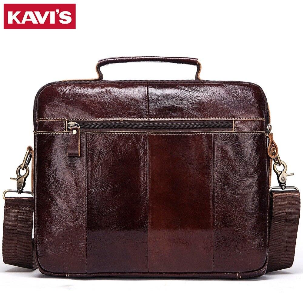 KAVIS 100% جلود الأبقار الأصلية حقائب خمر حقيبة كتف الرجال حقيبة ساعي السفر Crossbody حقيبة حمل حقيبة أعلى جودة-في حقائب قصيرة من حقائب وأمتعة على  مجموعة 3