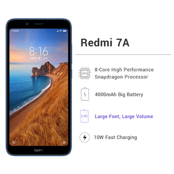 Global Rom Xiaomi Redmi 7A 7 A 3GB 32GB SmartPhone Snapdargon 439 Octa core 5.45 2