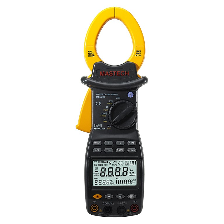 HYELEC MS2205 3 Phase Harmonic Power Clamp Meter Harmonic Power Tester with Rs232