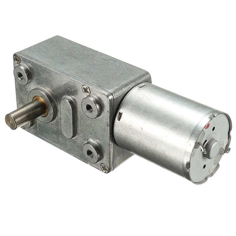Dc 12v low speed geared motor 0 6rpm high torque turbo for Low speed dc motor 0 5 6 volt