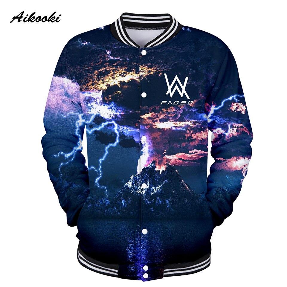 Aikooki Alan Olav Walker 3D Jacket Men Jackets Sweatshirt Women 3D Idols Girls/Boys 3d Jacket Baseball Hip Hop Fashion Tops Coat